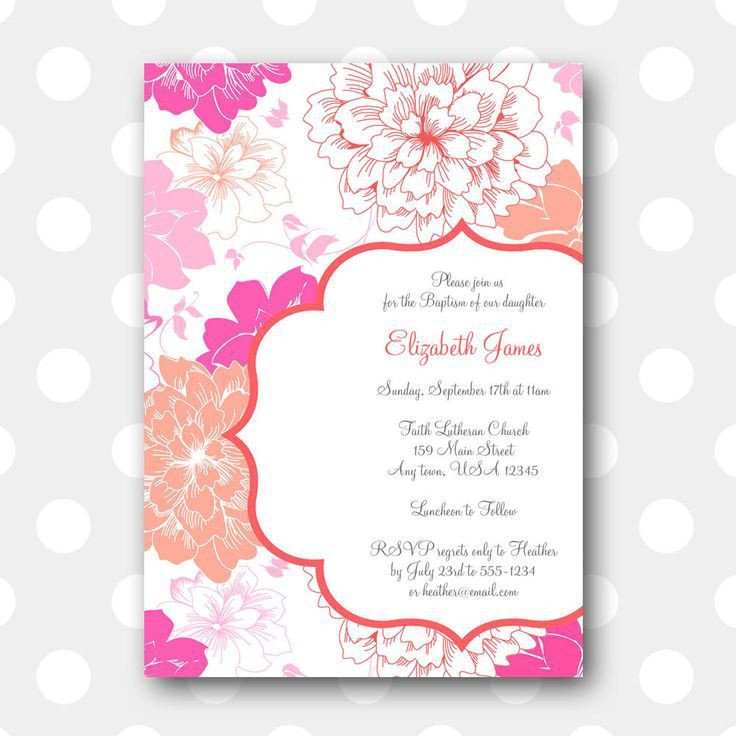 Free Printable Baptism Invitations Baptism Invitation Free Baptism Invitations to Print