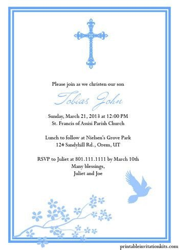 Free Printable Baptism Invitations Free Printable Religious Invitation Templates