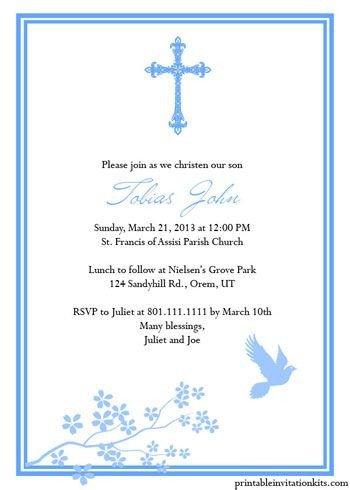 Free Printable Baptism Invitations Free Printable Religious Invitation Templates