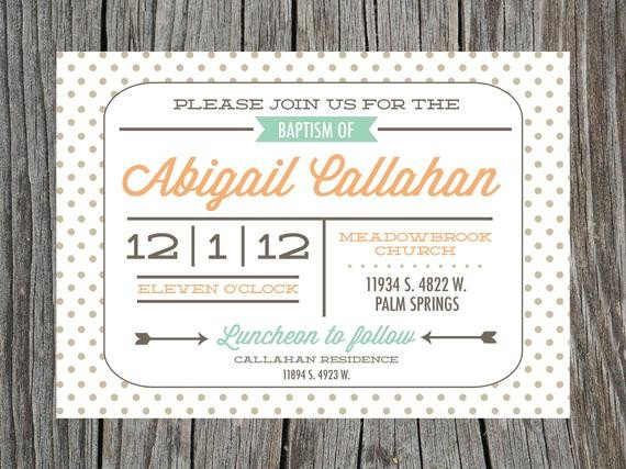 Free Printable Baptism Invitations Items Similar to Baby Baptism Christening Invitation