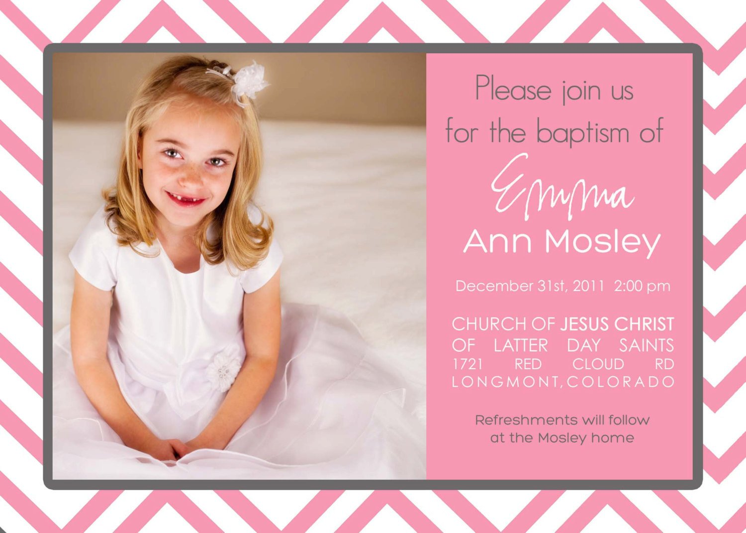 Free Printable Baptism Invitations Lds Baptism Invitation Printable Digital File Customize with