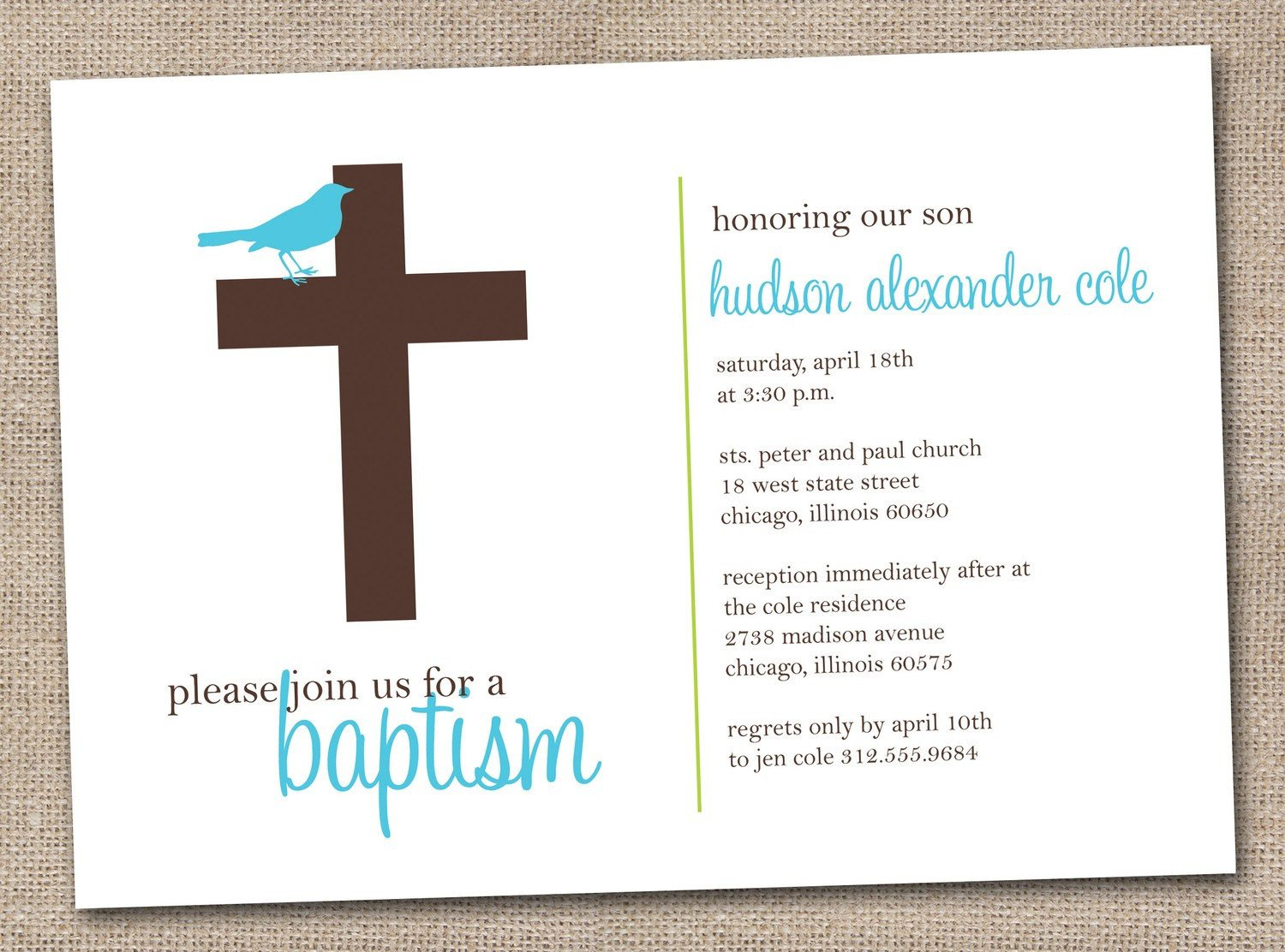 Free Printable Baptism Invitations Printable Baptism Invitations Blue and Brown Sparrow Bird and