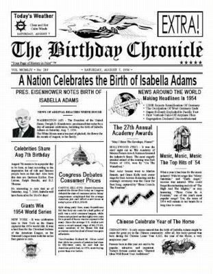 Free Printable Birthday Newspaper 17 Best Images About Newspaper N Such Clipart On Pinterest
