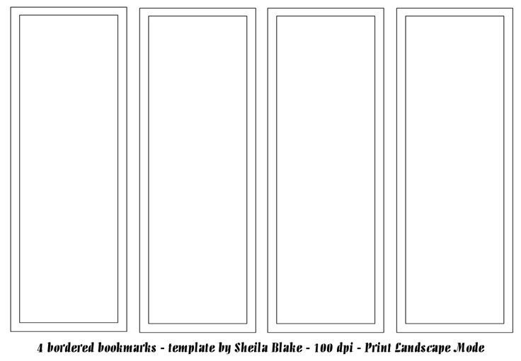 Free Printable Bookmark Templates Best 25 Bookmark Template Ideas On Pinterest