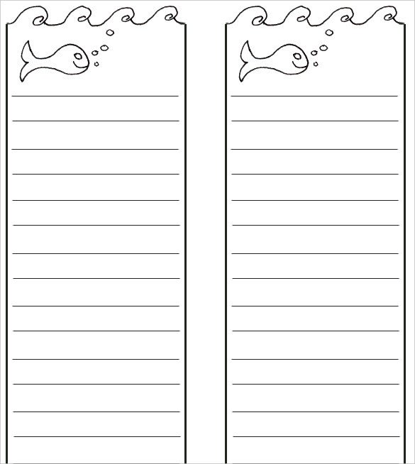 Free Printable Bookmark Templates Blank Bookmark Template – 135 Free Psd Ai Eps Word