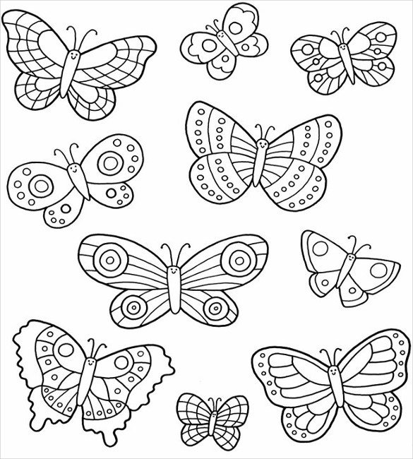 Free Printable butterfly Template 28 butterfly Templates Printable Crafts & Colouring