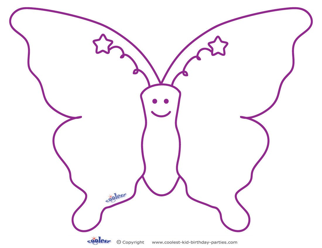 Free Printable butterfly Template 7 Best Of butterfly Template Printable