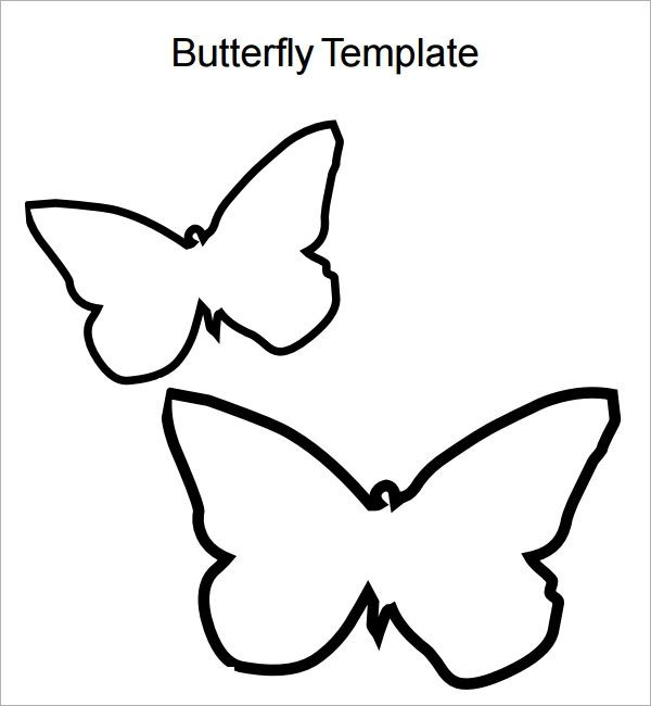 Free Printable butterfly Template butterfly Printable Template