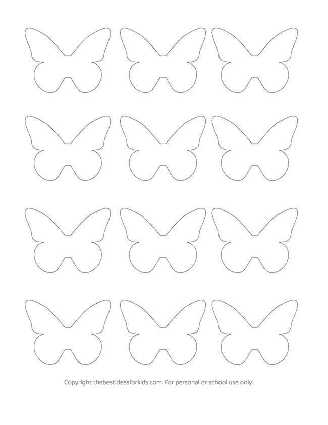 Free Printable butterfly Template butterfly Template the Best Ideas for Kids
