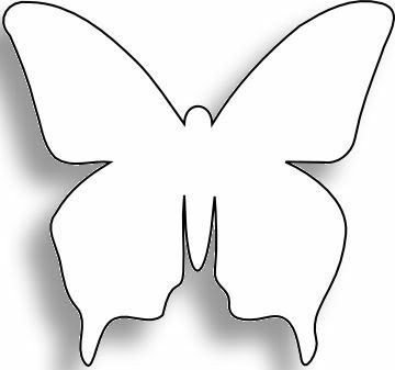 Free Printable butterfly Template Card Templates Printable On Clipart Library