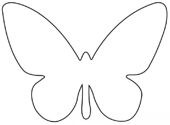 Free Printable butterfly Template Free Printable butterfly Template