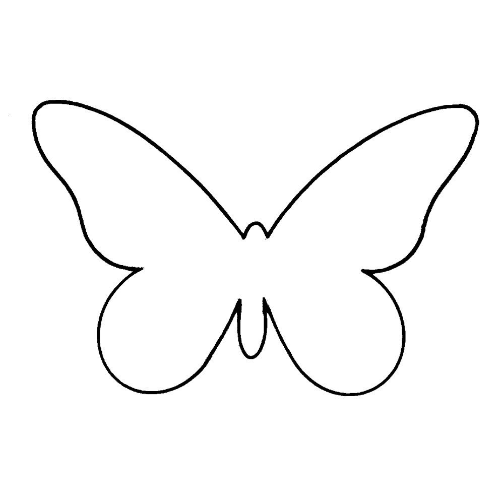Free Printable butterfly Template Plain butterfly Templates Clipart Library