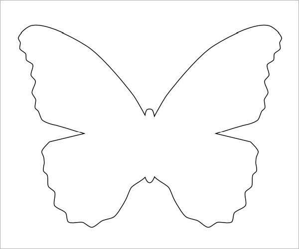 Free Printable butterfly Template Printable butterfly Templates