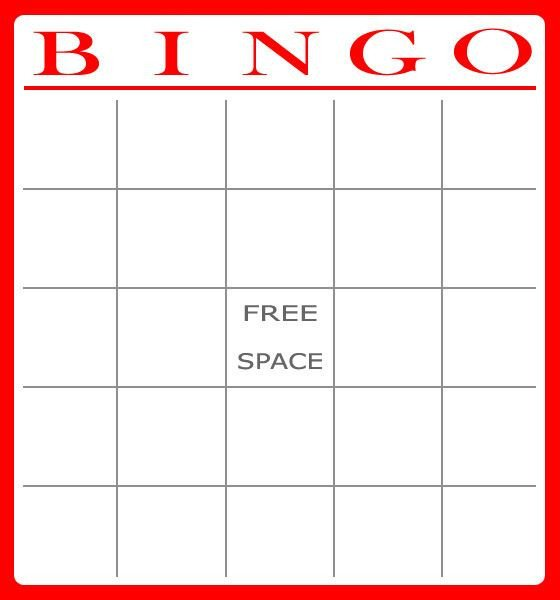 Free Printable Card Templates Free Bingo Card Template Download