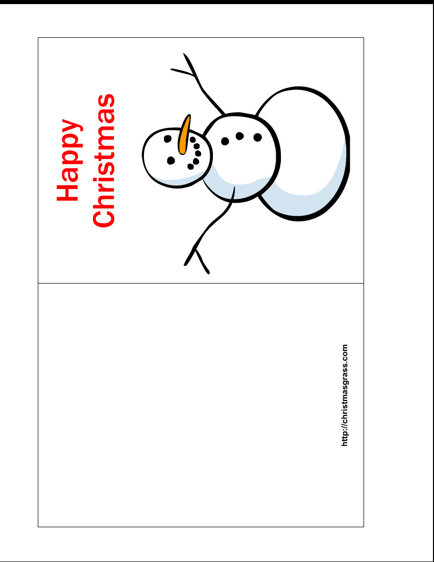 Free Printable Card Templates Free Printable Happy Christmas Card with Snowman