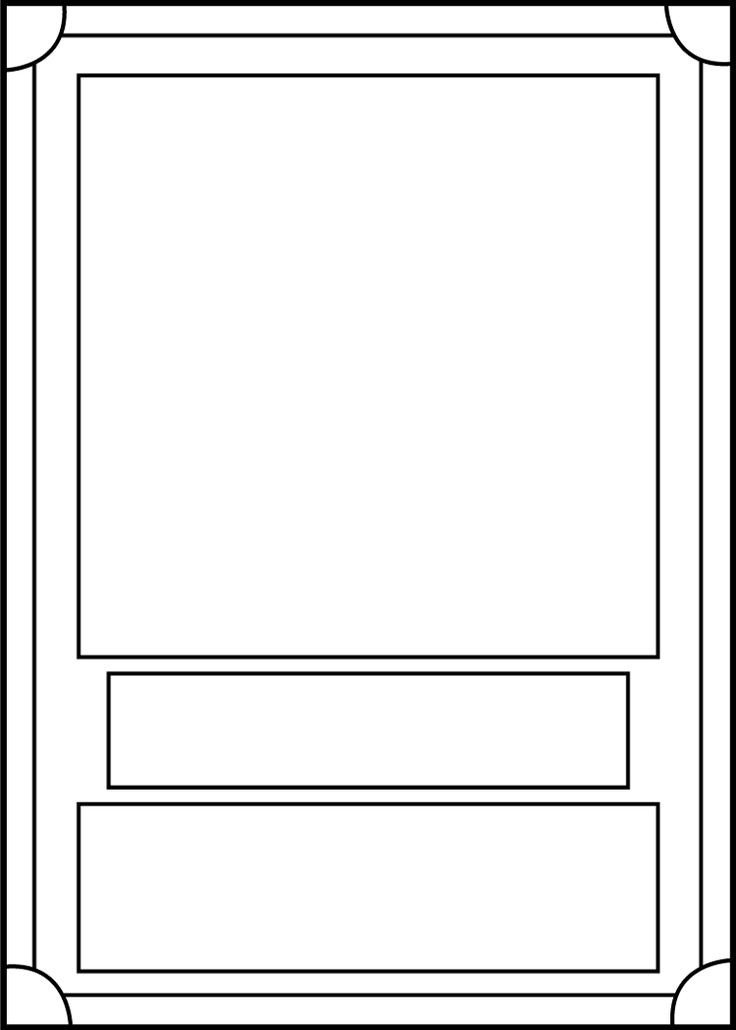 Free Printable Card Templates Trading Card Template Front by Blackcarrot1129 On