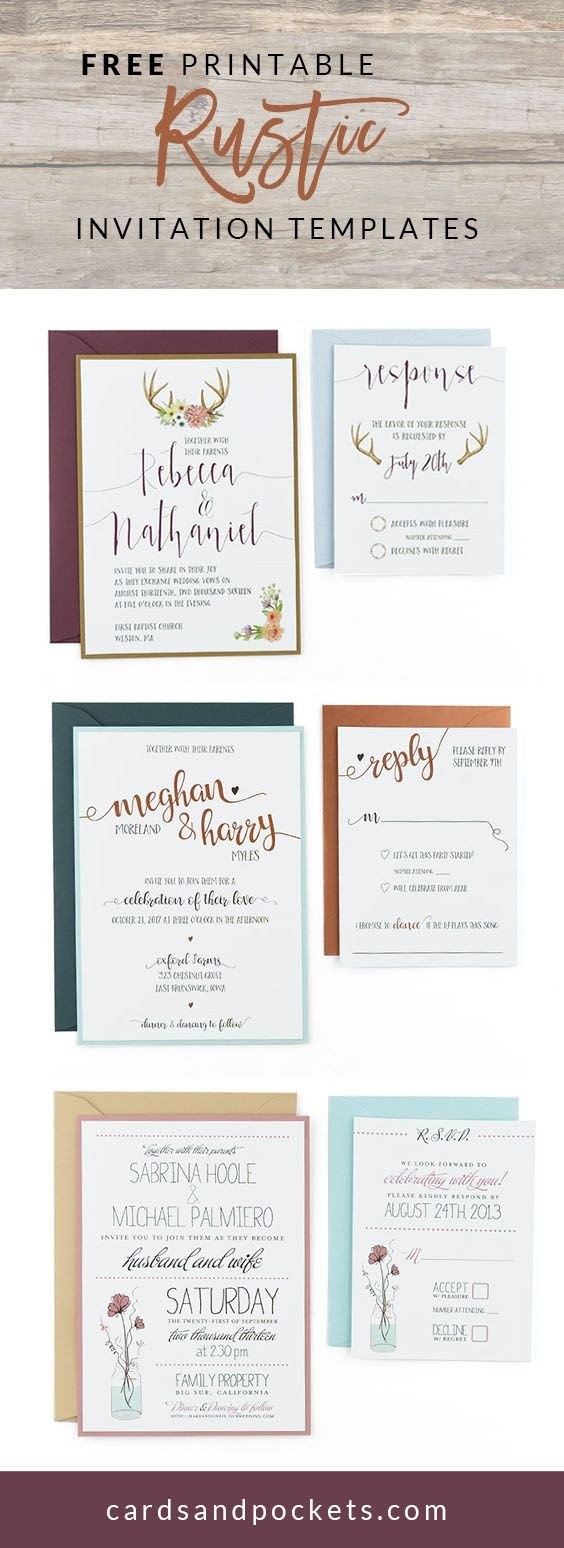 Free Printable Cards Template 25 Best Ideas About Invitation Templates On Pinterest