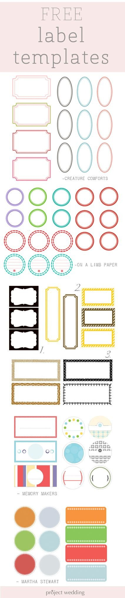 Free Printable Cards Template Best 25 Free Label Templates Ideas On Pinterest