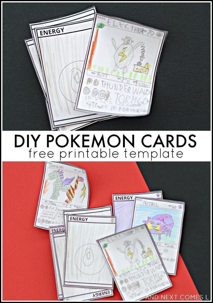 Free Printable Cards Template Diy Pokemon Cards Free Printable Template
