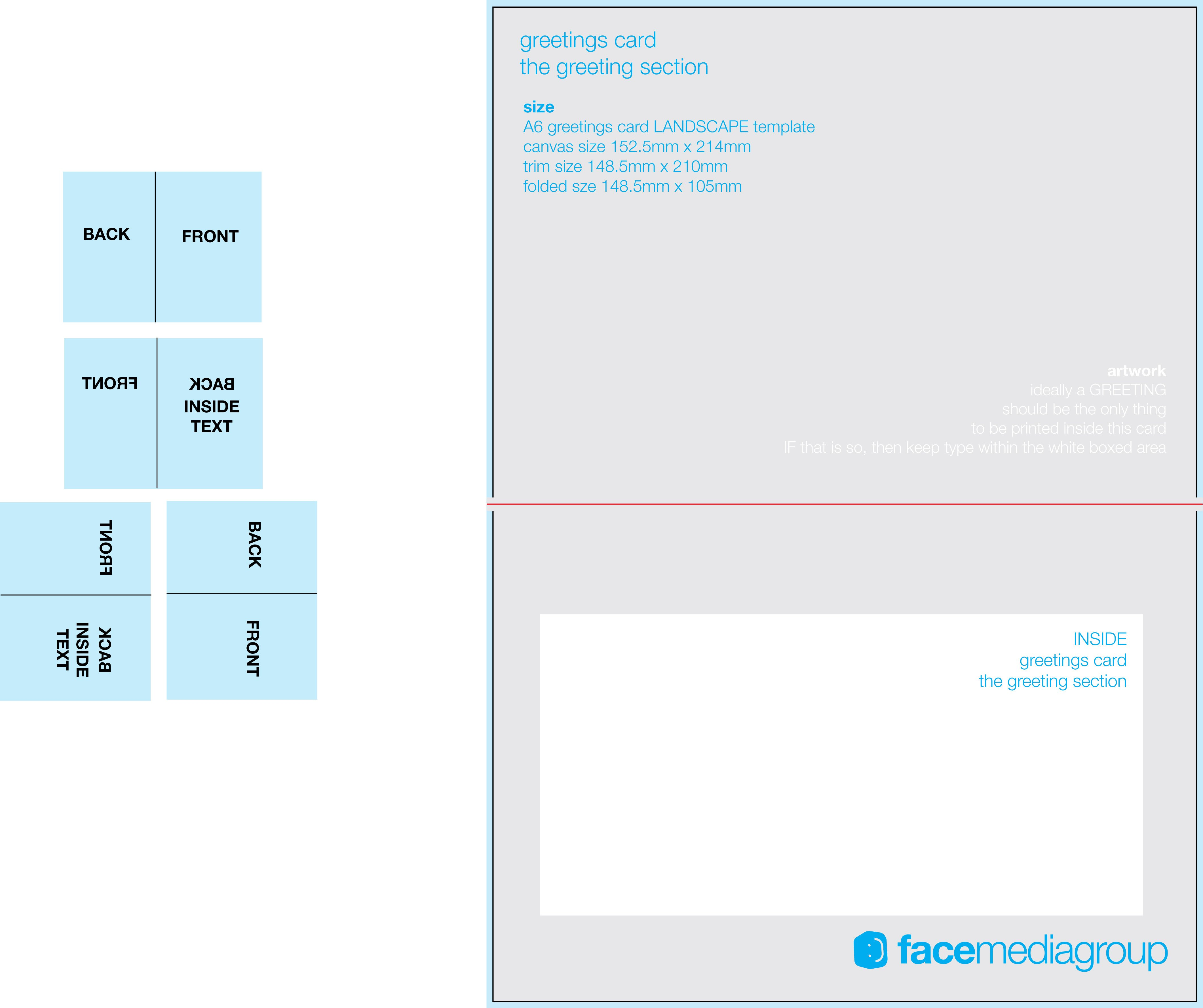 Free Printable Cards Template Free Blank Greetings Card Artwork Templates for Download