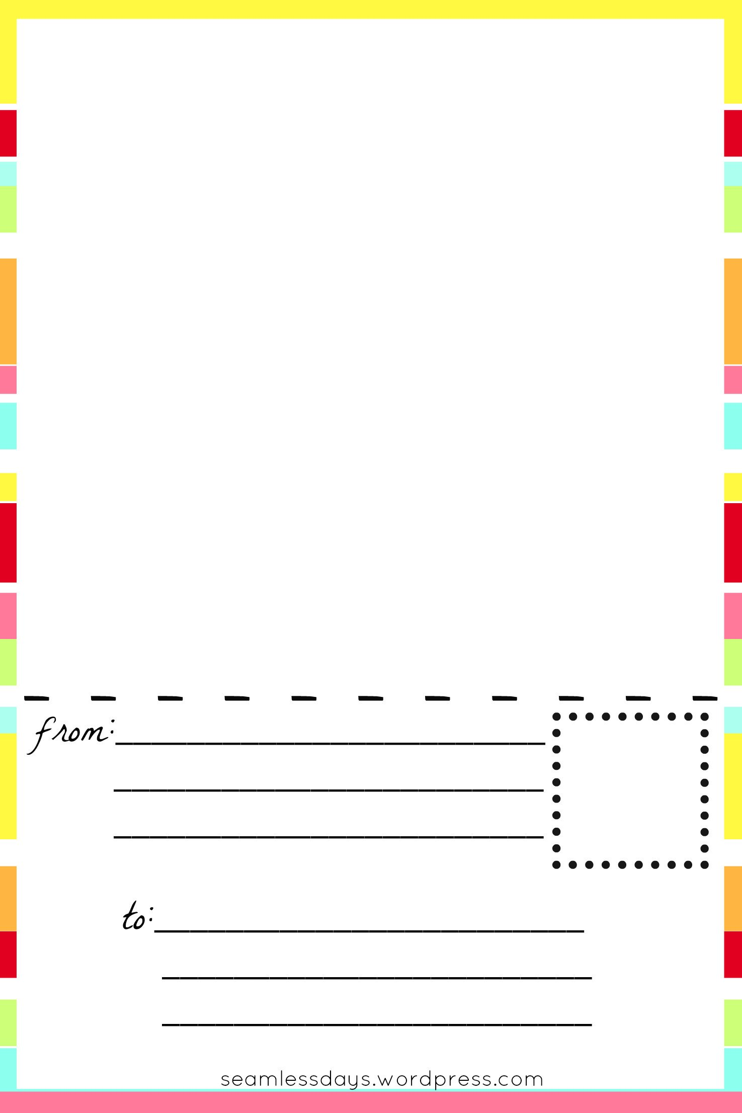 Free Printable Cards Template Free Printable Blank Postcards for Kids
