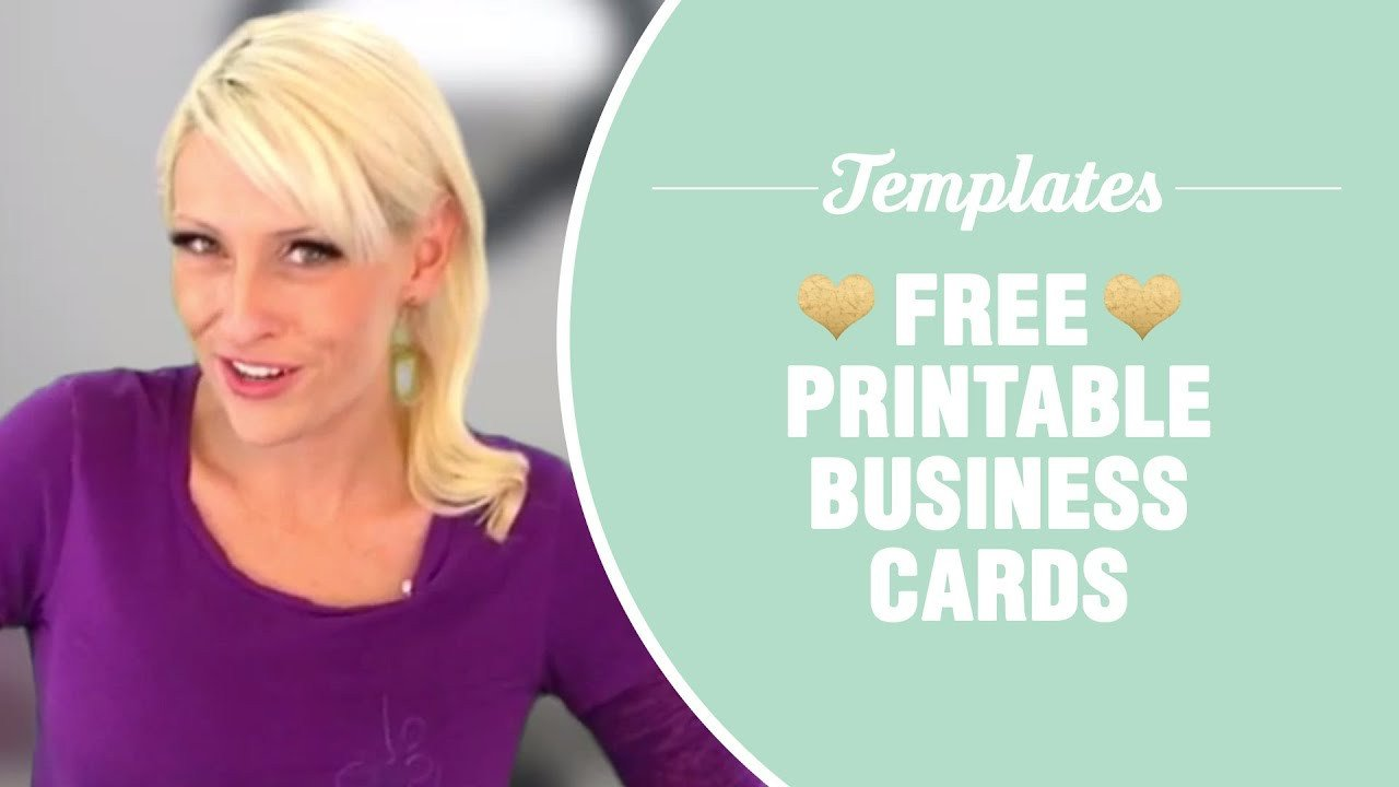 Free Printable Cards Template Free Printable Business Cards Templates Included