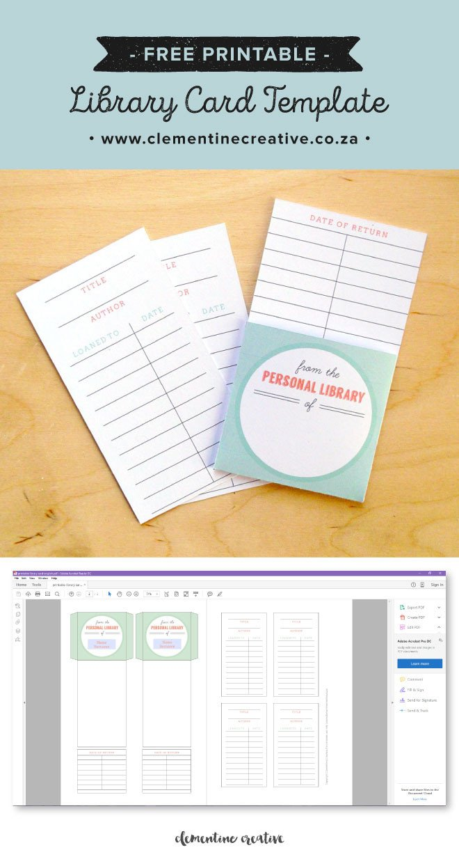 Free Printable Cards Template Free Printable Library Cards