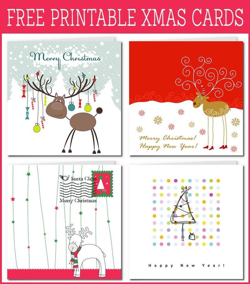 Free Printable Cards Template Free Printable Xmas Cards Gallery