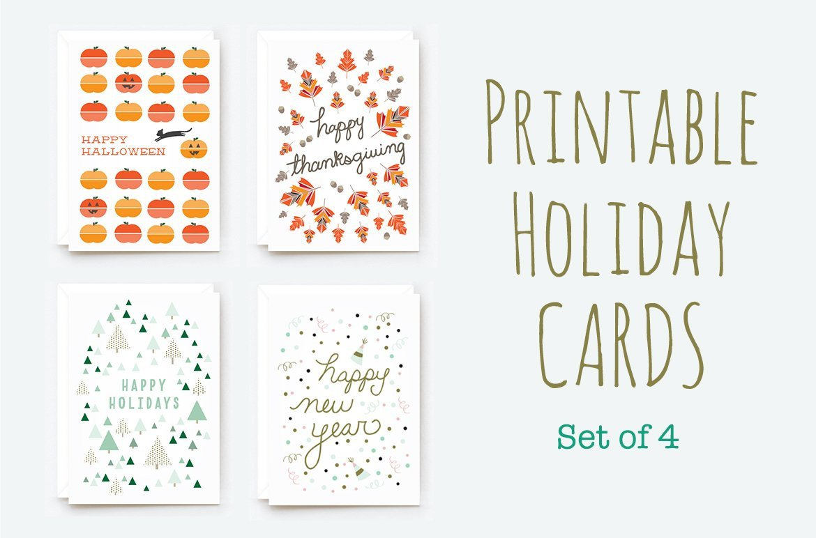 Free Printable Cards Template Printable Winter Holiday Cards Card Templates Creative