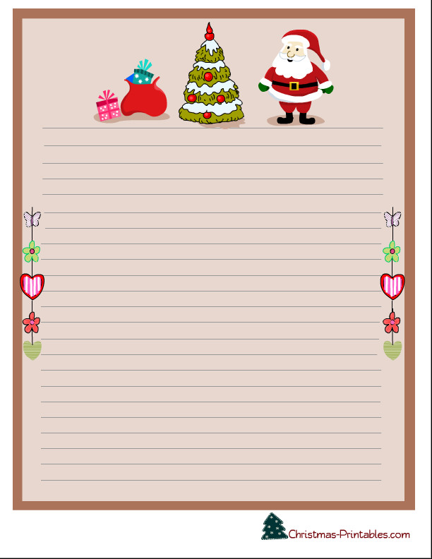 Free Printable Christmas Stationary 4 Best Of Printable Stationary Paper Water Pink