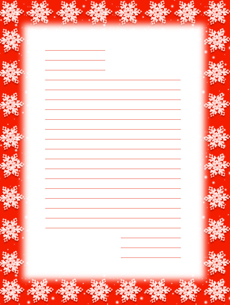 Free Printable Christmas Stationary Free Printable Christmas Snowflake Stationery