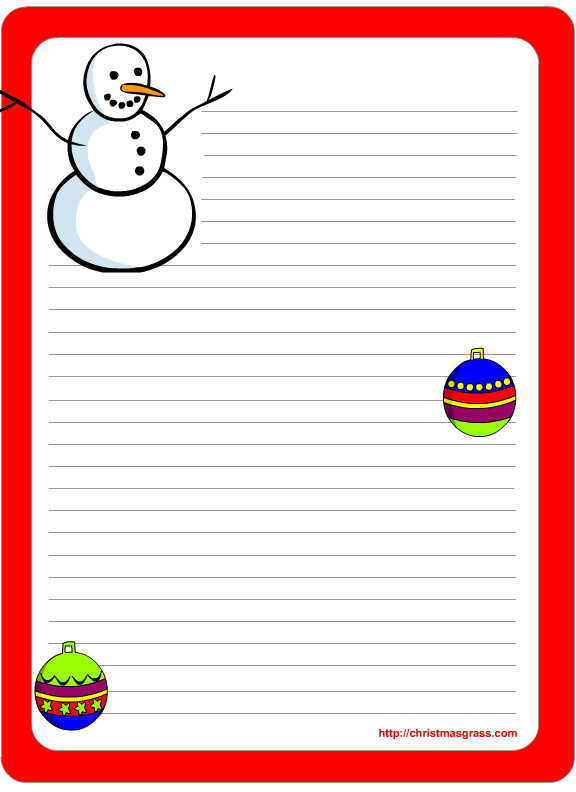 Free Printable Christmas Stationary Free Printable Christmas Stationery with Gingerbread Man