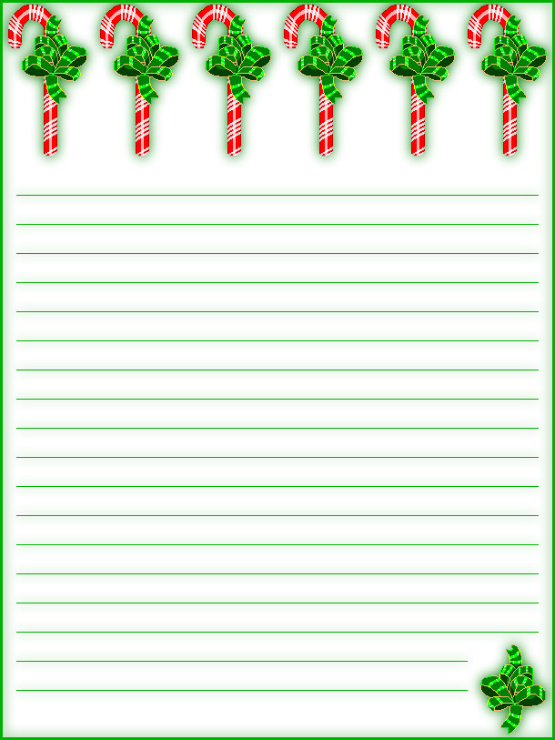 Free Printable Christmas Stationary Free Printable Lined Christmas Stationery Holiday Money