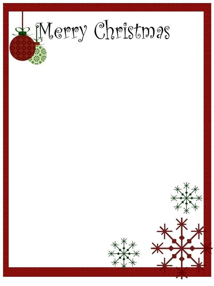 Free Printable Christmas Stationary Printable Christmas Stationery to Use for the Holidays
