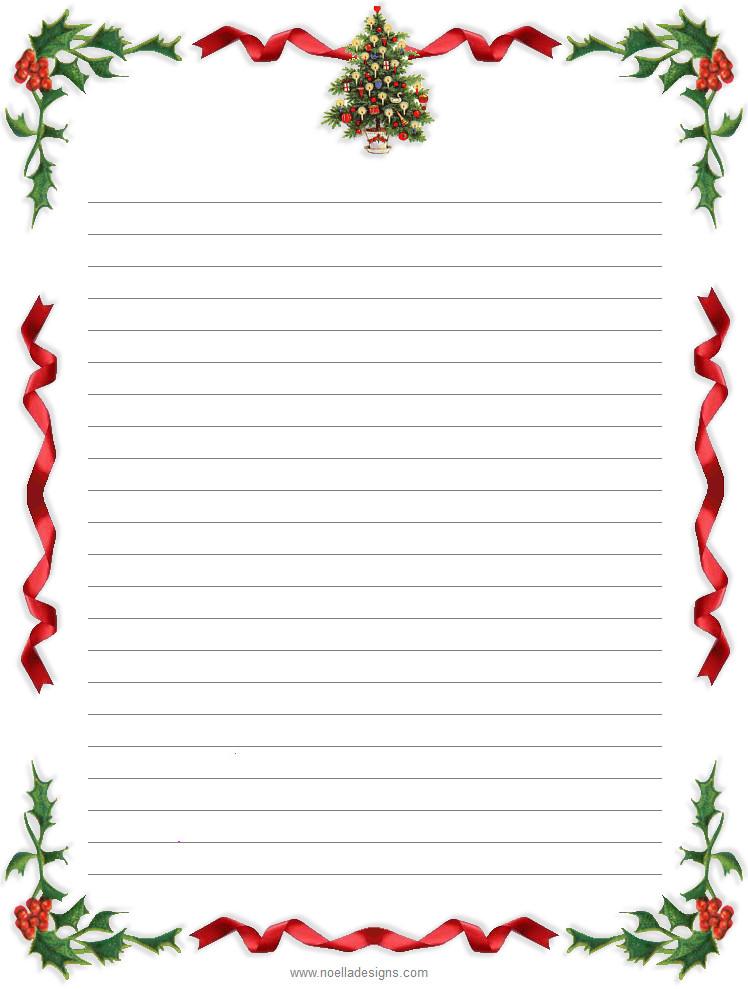 Free Printable Christmas Stationery Free Printable Christmas Paper Stationery