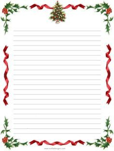 Free Printable Christmas Stationery Free Printable Word Free and Christmas On Pinterest