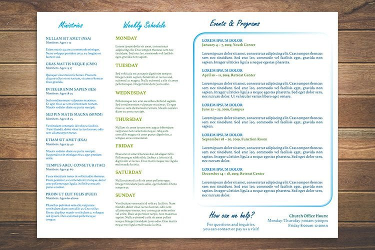 Free Printable Church Bulletin Templates 8 Free Church Bulletin Templates