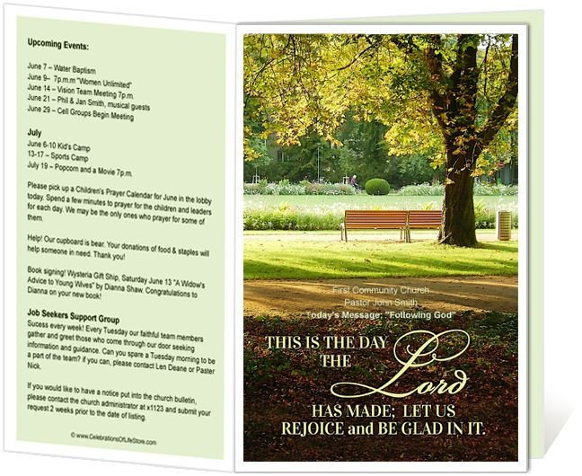 Free Printable Church Bulletin Templates Church Bulletin Templates Park Church Bulletin Template