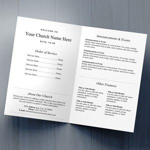 Free Printable Church Bulletin Templates Church Bulletins Bulletin Printing Template
