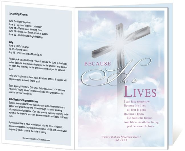 Free Printable Church Program Templates Church Bulletin Templates Cross Church Bulletin Template