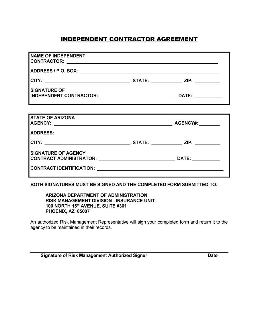 Free Printable Construction Contracts 50 Free Independent Contractor Agreement forms & Templates