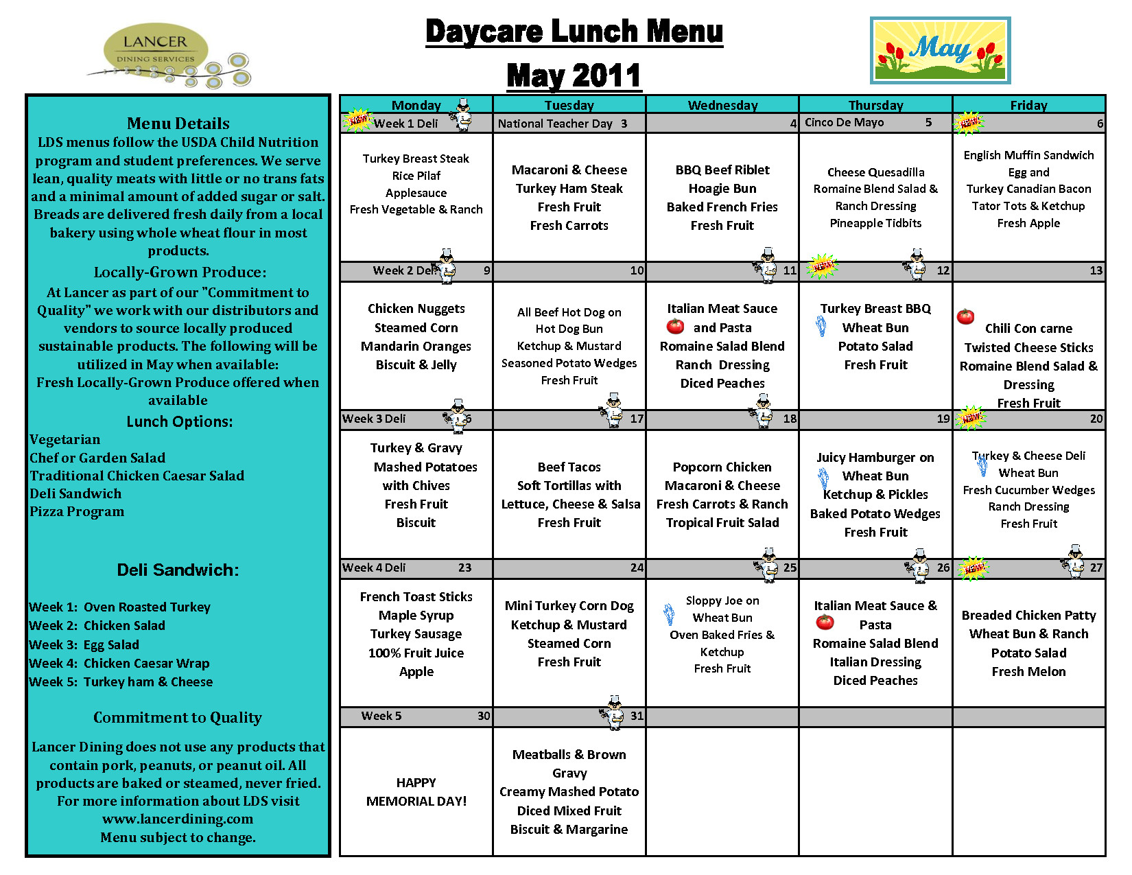 Free Printable Daycare Menus Day Care Lunch Menu Template Awesome Lists