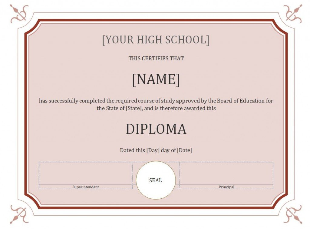 Free Printable Diploma Template 50 Free High School Diploma Template Printable
