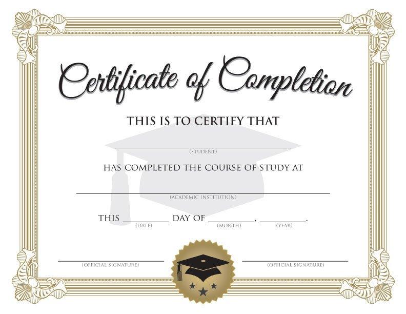 Free Printable Diploma Template Blank Graduation Certificate