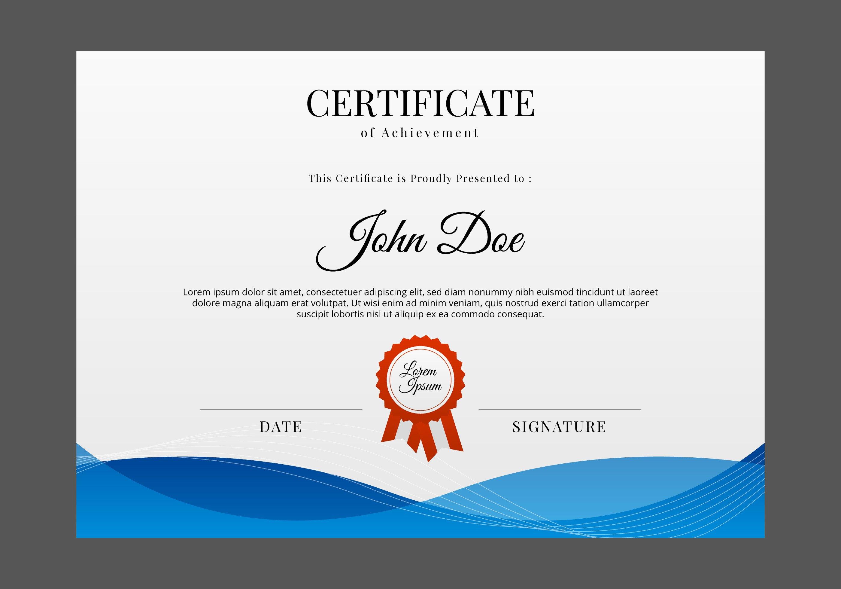 Free Printable Diploma Template Certificate Templates Free Certificate Designs