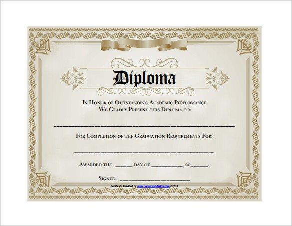 Free Printable Diploma Template Diploma Certificate Template – 25 Free Word Pdf Psd