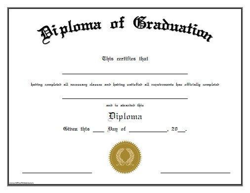 Free Printable Diploma Template Free Printable Preschool Graduation Certificates