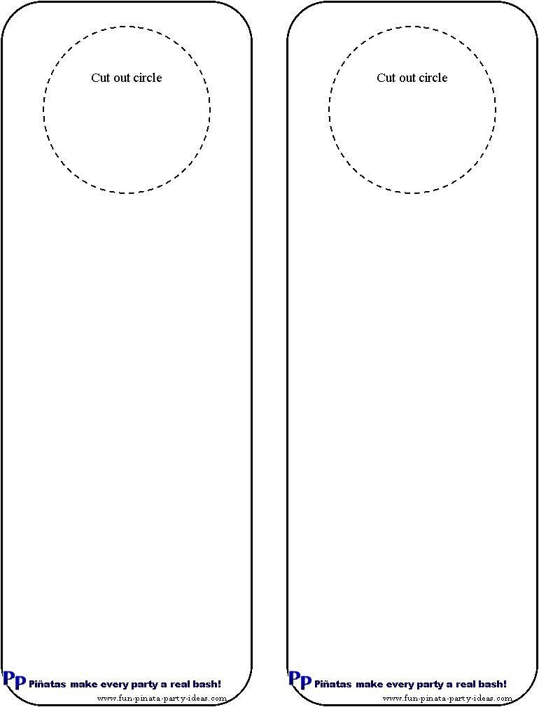 Free Printable Door Hanger Template Cool Idea for Diy Door Hangers Miscellaneous