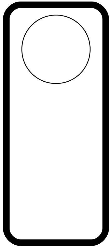 Free Printable Door Hanger Template Door Hanger Templates Pinterest