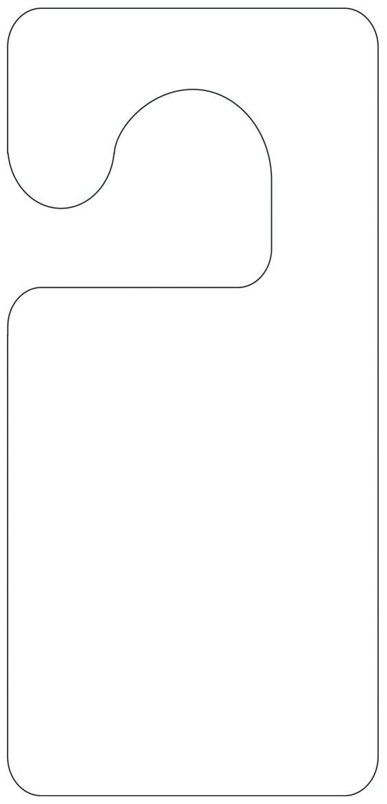 Free Printable Door Hanger Template Printable Door Hanger Template